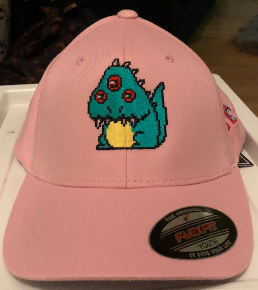 "Image of Pale Pink Urban Youths Fiited Cap - Retro-Monster Design ""Limited Edition"""
