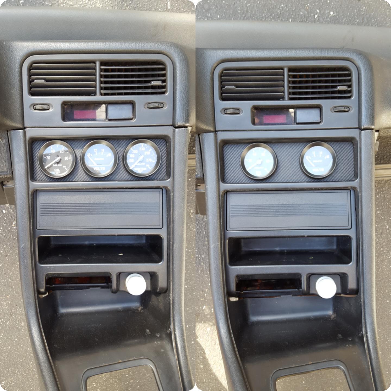Image Of 88 91 Honda CRX Climate Control Slot Gauge Plates / Mounts