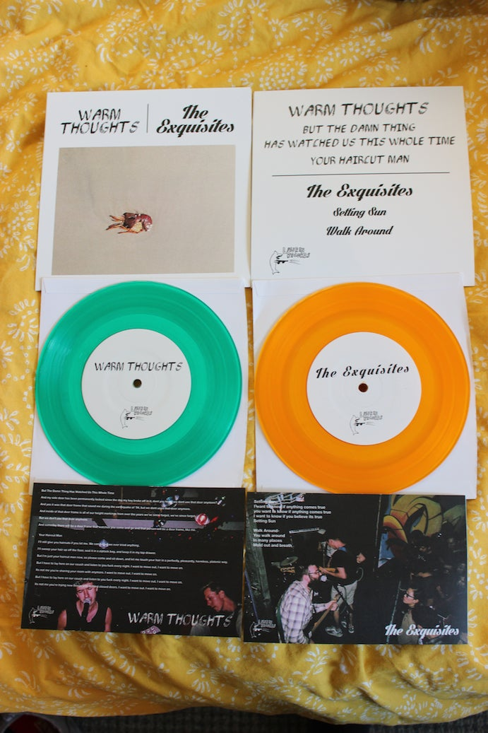 Warm Thoughts/Exquisites Split 7""