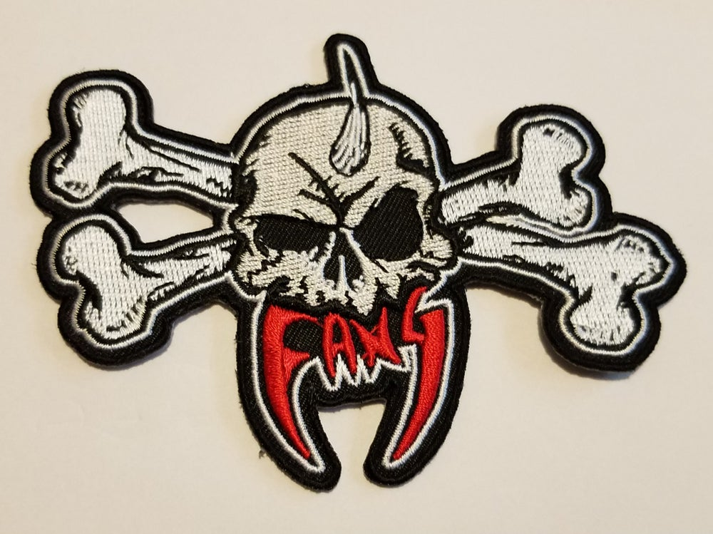 Image of FANG DIE CUT EMBROIDERED PATCH