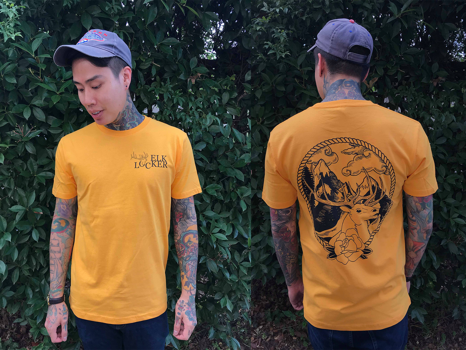 Image of Elk T Shirt - Yellow