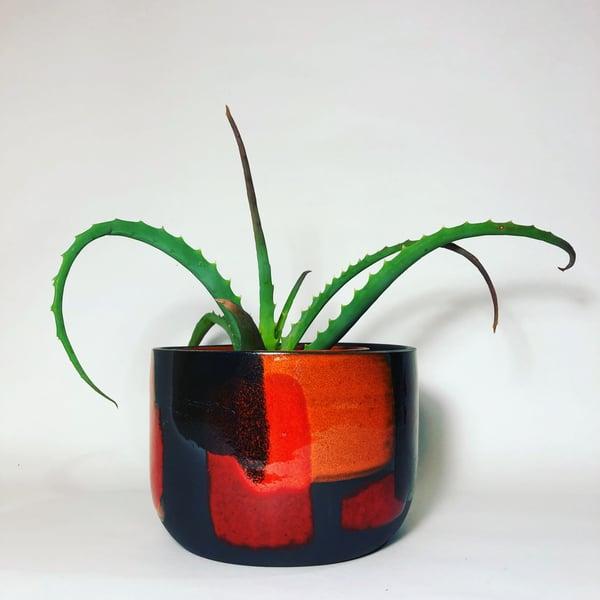 Image of Black Coral Melange Planter