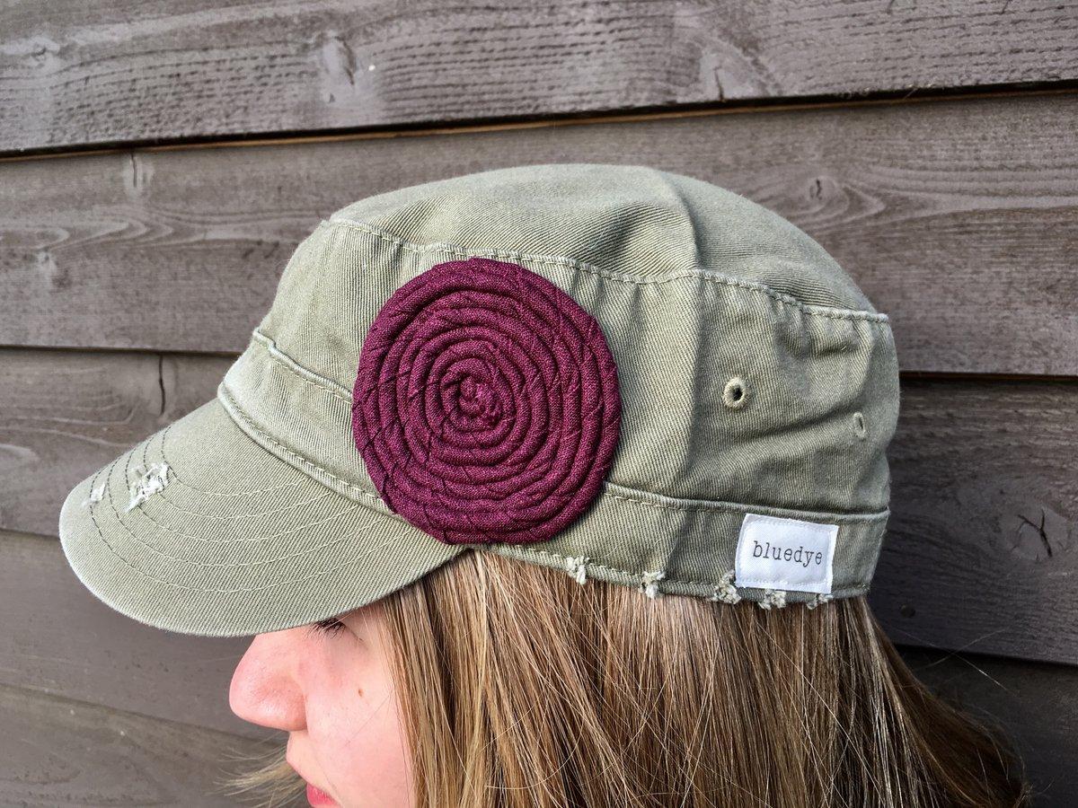 Image of Olive Hat/Purple Flower