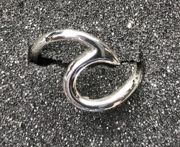 Image of Sterling Wave Rings