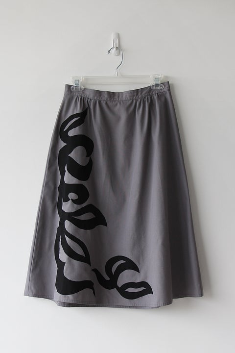 Image of SOLD Bold Black On Grey Skirt