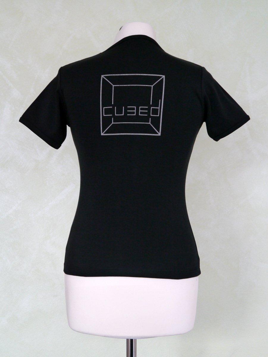 Image of girlie shirt cubed grey