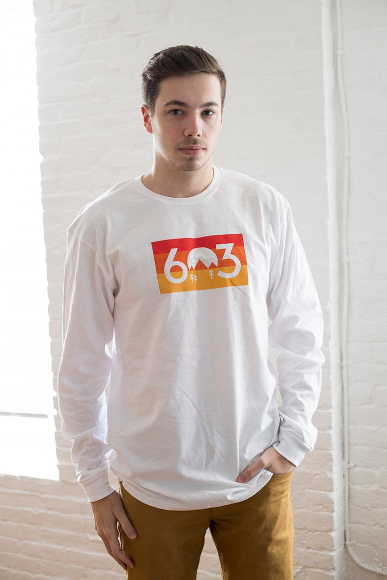 Image of Unisex 603 sunset long sleeve