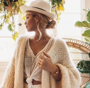 Image of HAND KNIT WOOL CARDIGAN