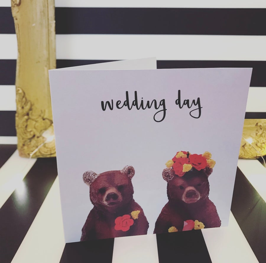 Image of WEDDING BEARS CARD