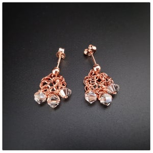 Image of D E W D R O P  Earrings - ROSEGOLD