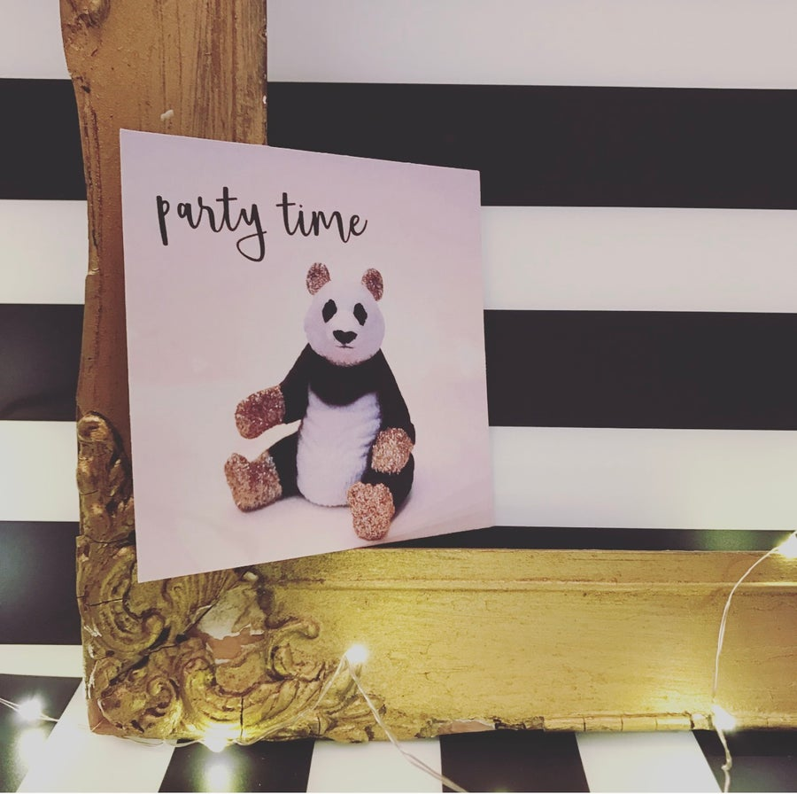 Image of PARTY INVITE PANDA