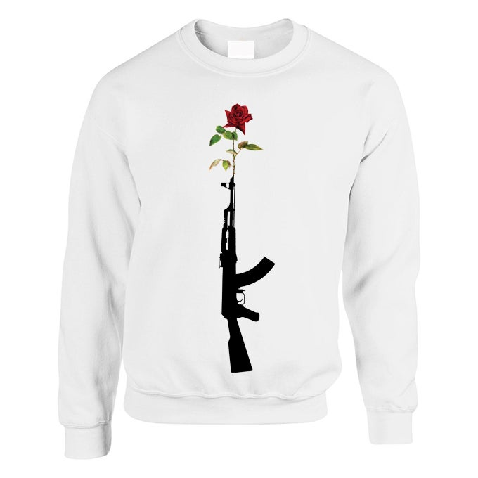 Image of *NEW* #GunRose Sweat (White)
