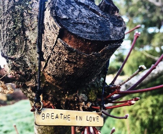 Image of Breathe In Love Hand Made 'Dog Tag' Necklace