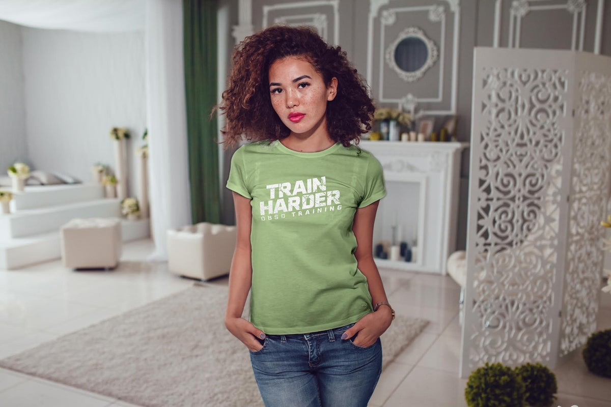 Image of Ladies Train Harder Khaki Green New Collection