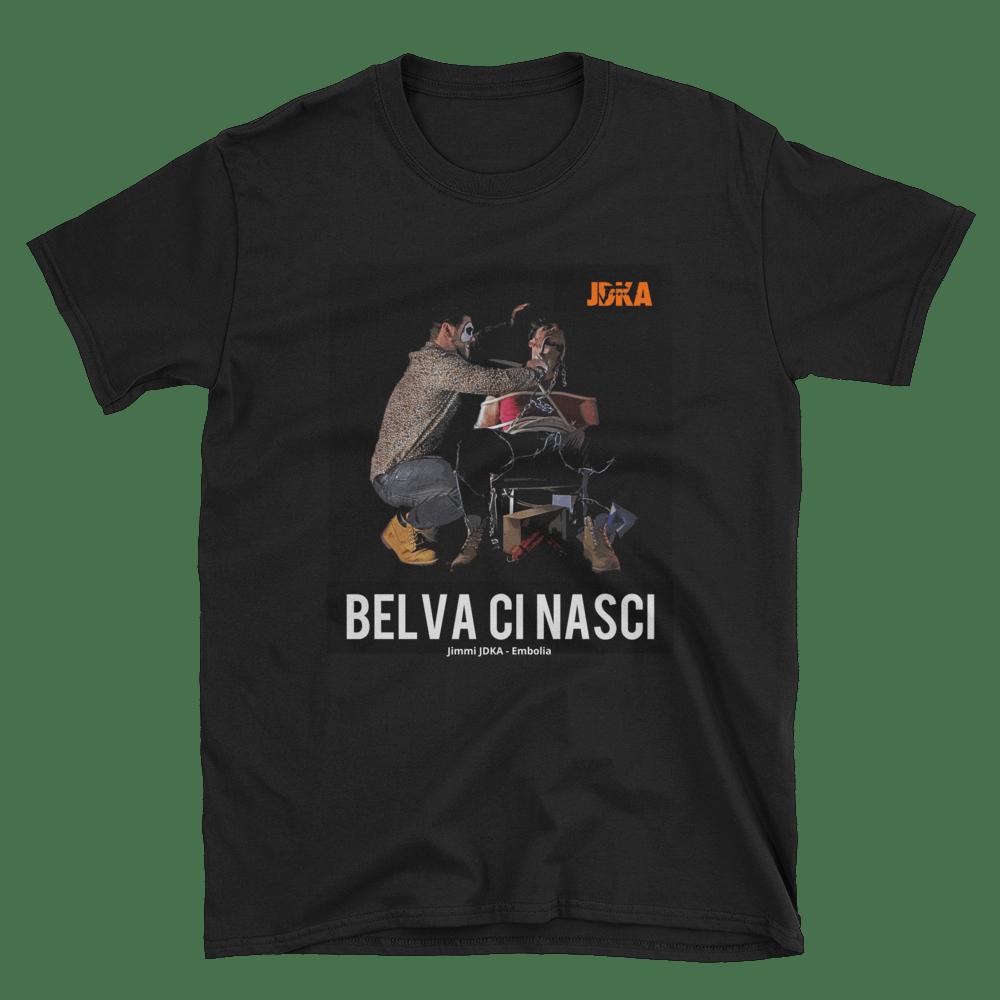 "Image of T-Shirt ""Belva Ci Nasci"" Double Black"