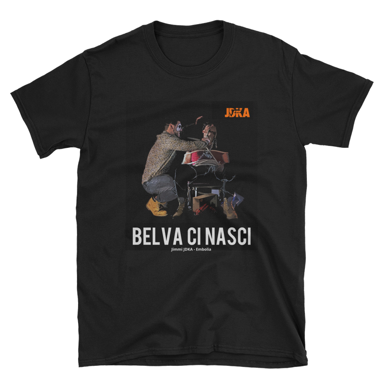 "Image of T-Shirt ""Belva Ci Nasci"" Double Black"