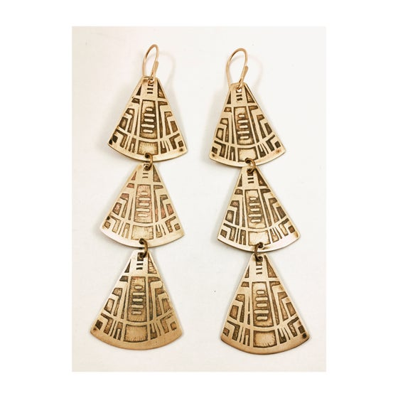 Image of Portal Triplet Earrings