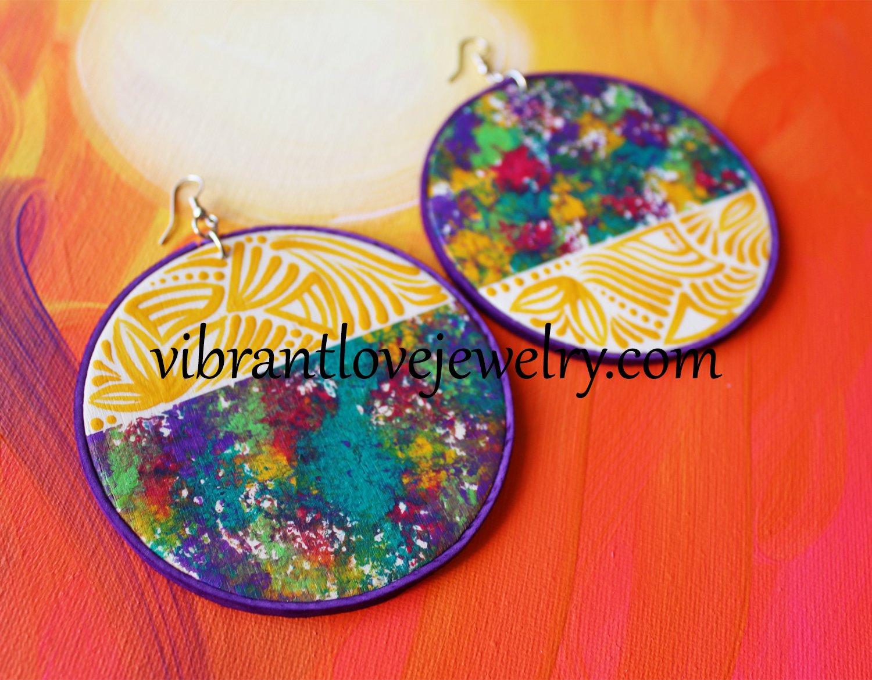 """Image of """"Yellow Meadow"""" Earrings"""