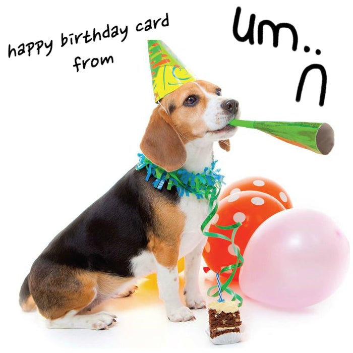 Image of personalized bday card from um..