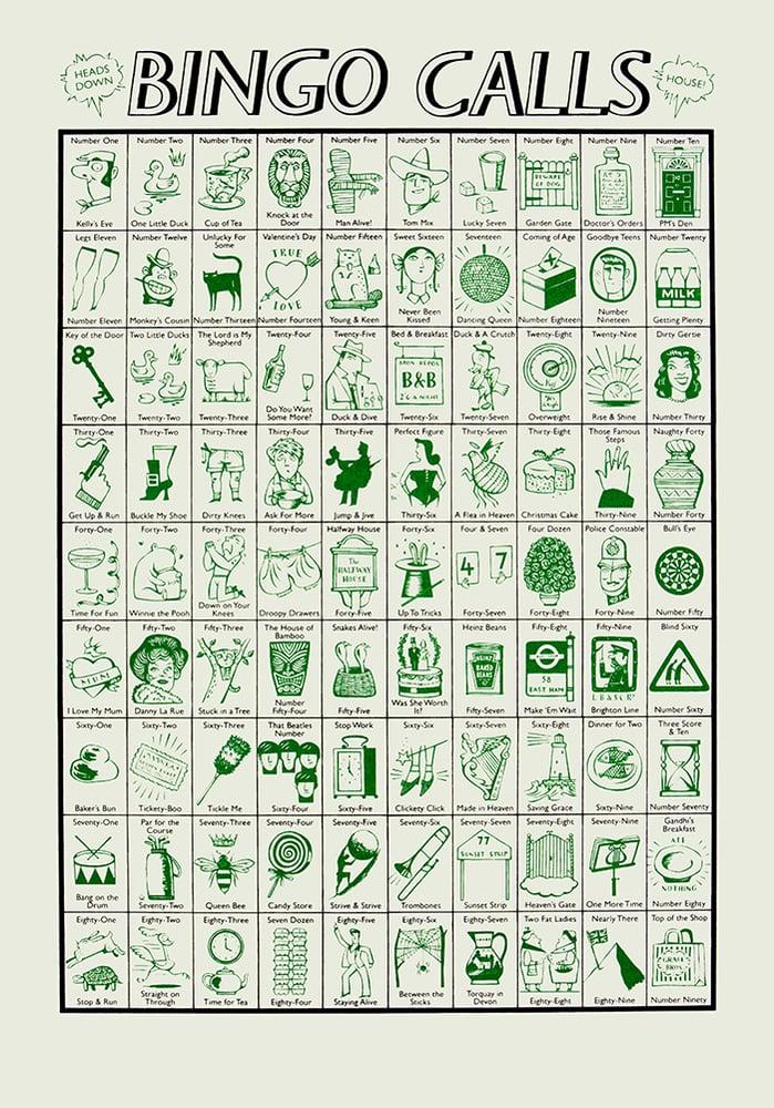 Image of Bingo Calls (bottle green)