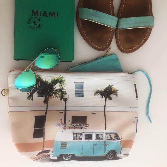 Image of Turquoise combi XL pouch