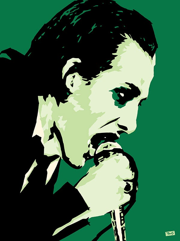 """Image of """"Perkins 77"""" Art Print Series - 7721 Dave Vanian from The Damned"""