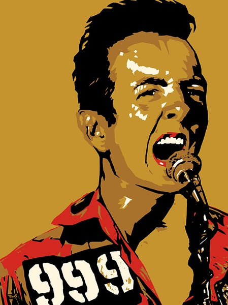 "Image of ""Perkins 77"" Art Print Series - 7722 Joe Strummer"