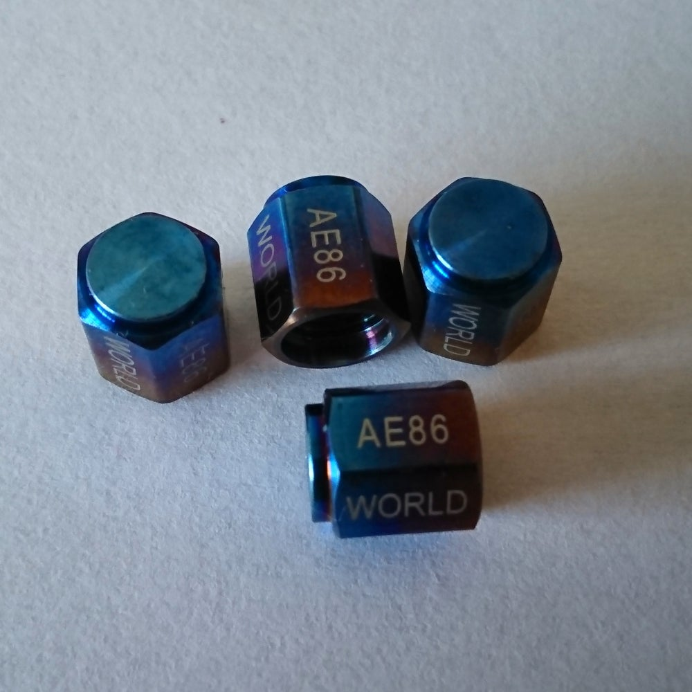 Image of AE86 WORLD Titanium Valve Caps