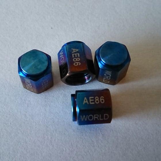 Image of AE86 WORLD Titanium Valve Caps
