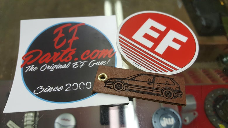 Image of EF Leather Key Chain