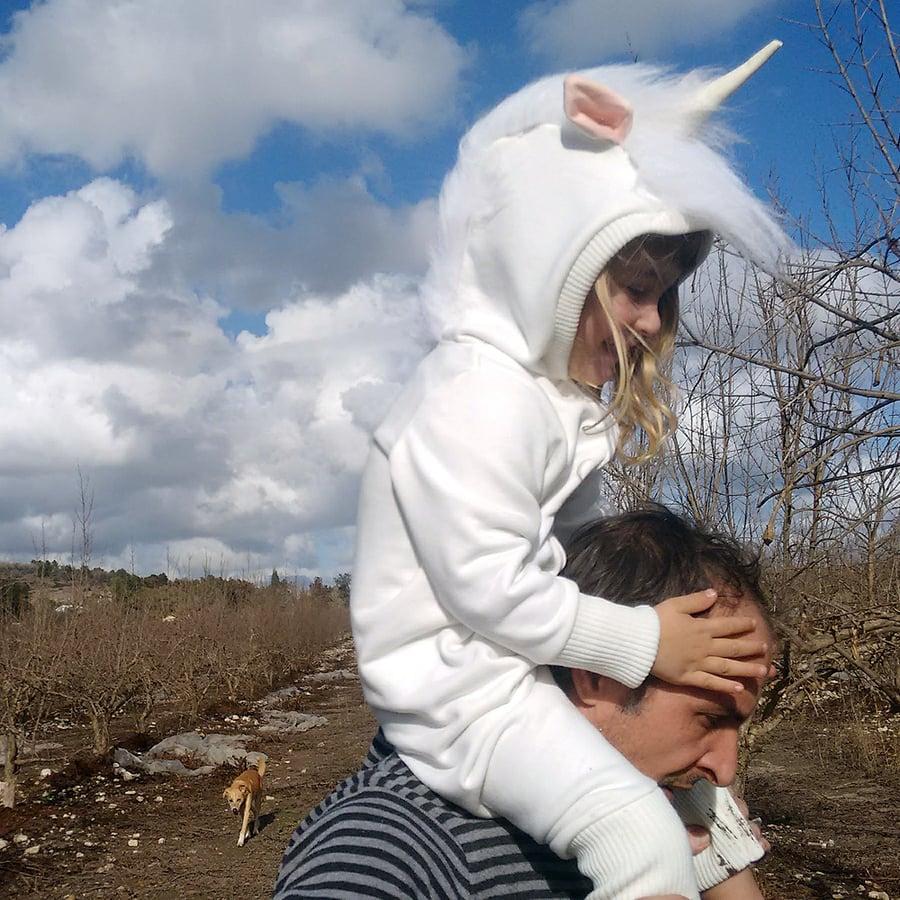 Image of Unicorn Cool Playsuit   אוברול חד קרן