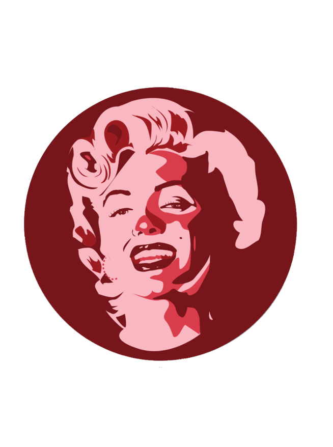 Image of Monroe by Gummo (Button + Sticker)