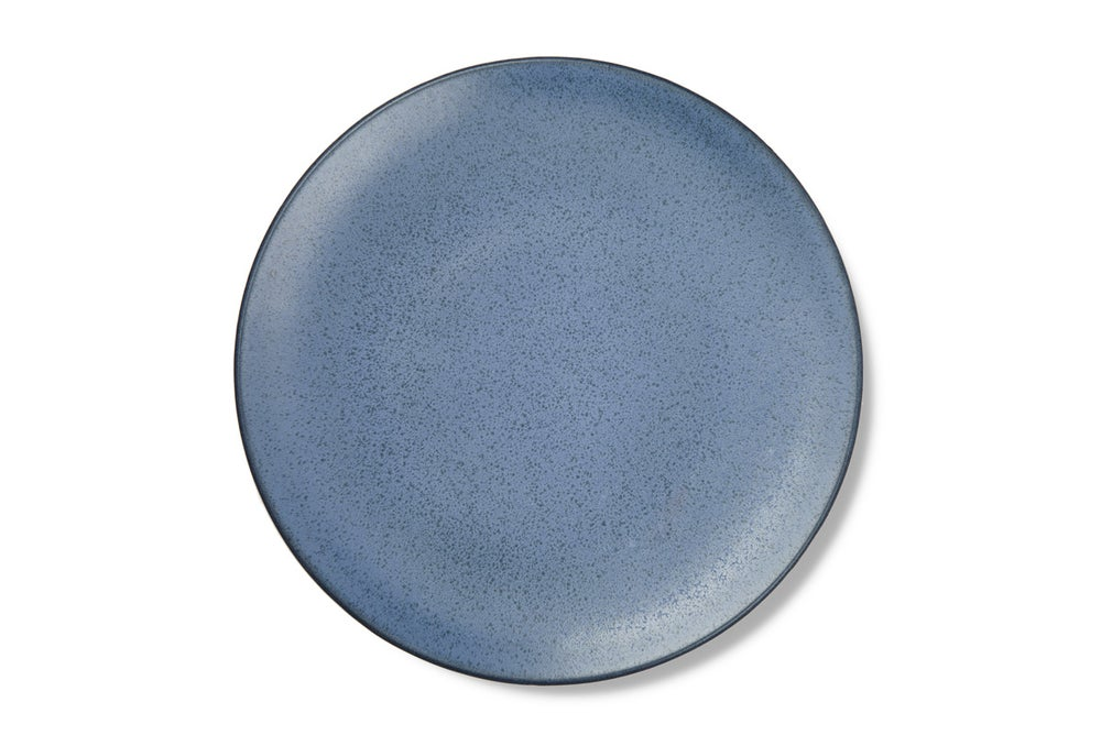Image of Textured Blue Large Dinner Plate