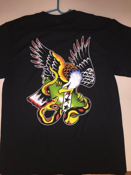 Image of Eagle, Snake and Bottle Patchholder shirt