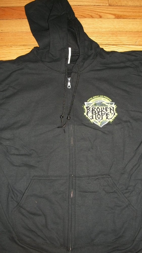 Image of BROKEN HOPE OMEN OF DISEASE ZIPPER HOODIE