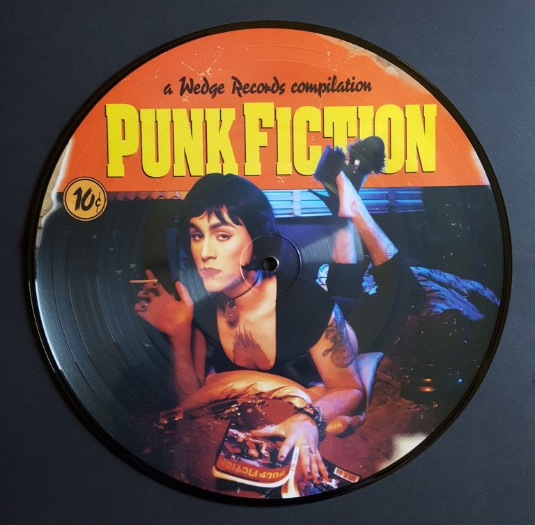 """Image of WEDGE #7 PUNK FICTION 20 YEAR ANNIVERSARY Limited Edition 10"""" PICTURE DISC"""