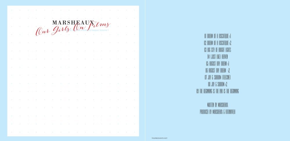 """Image of MARSHEAUX """"Our Girls On Films"""" CD Vol.1"""