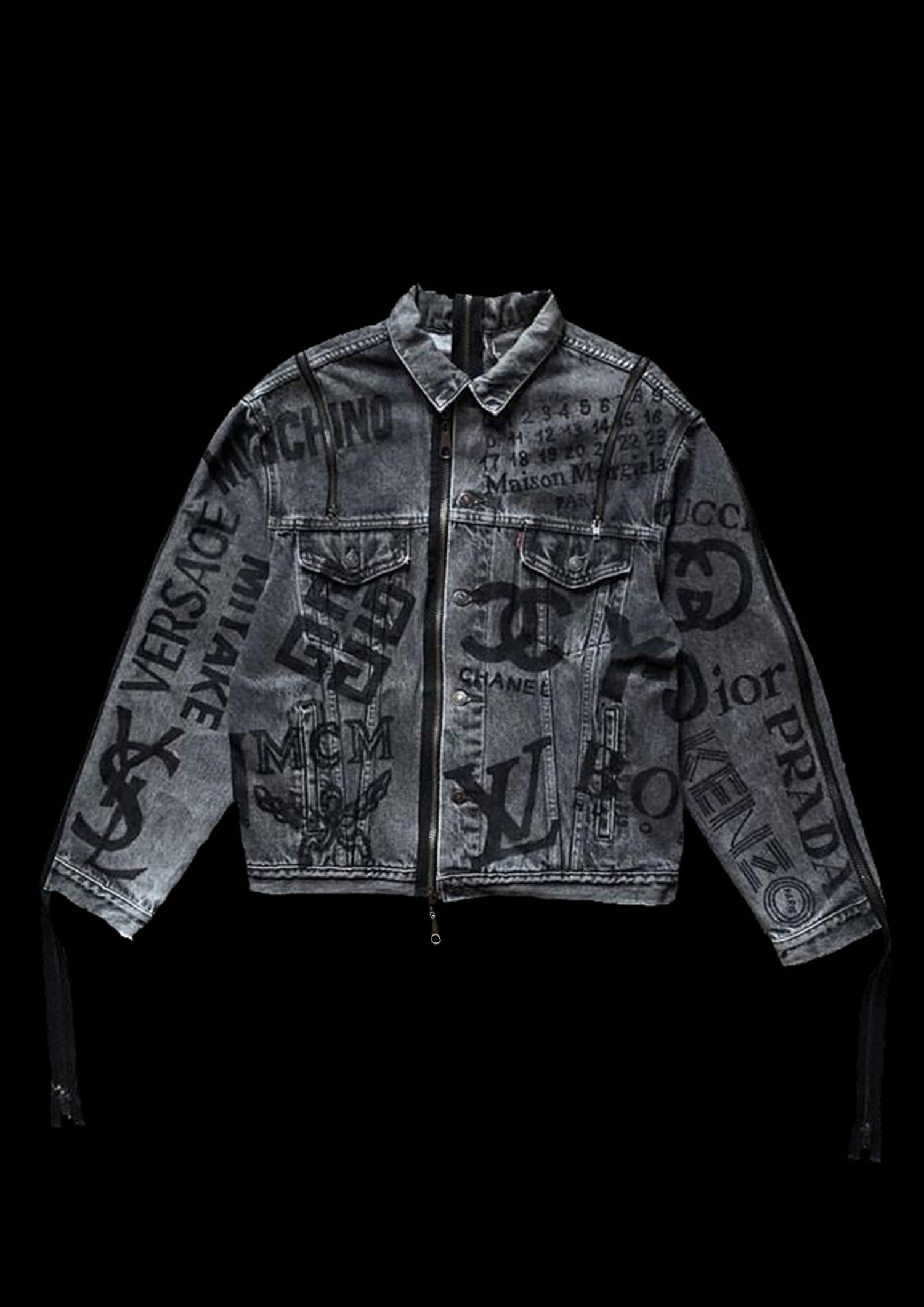 Image of LOGO ADVERTISING DENIM JACKET