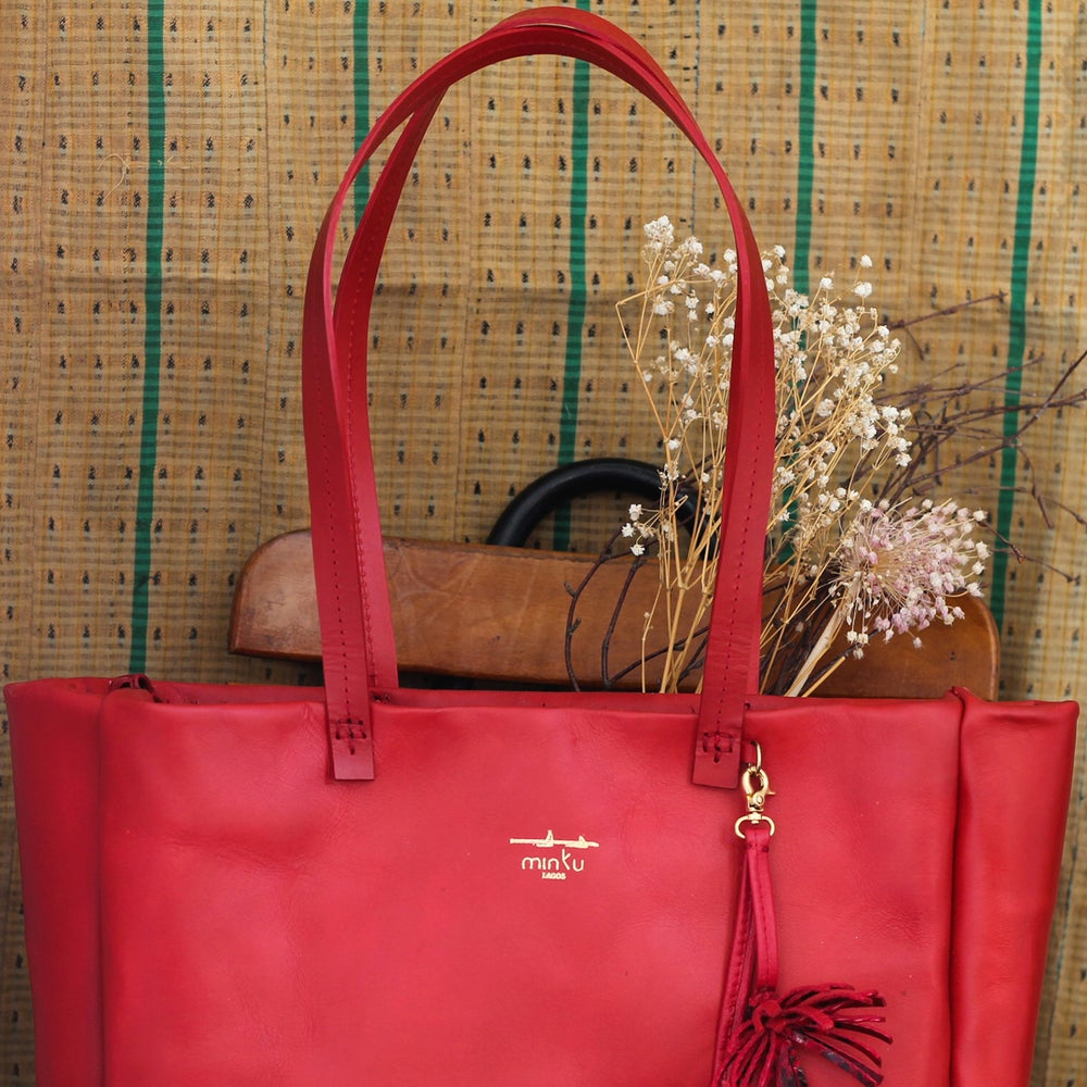 Image of Isegun tote - red