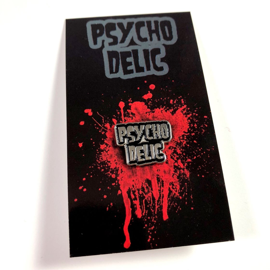 Image of Psychodelic Logo Pin