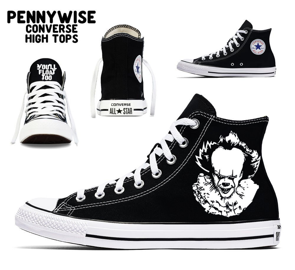 9067545bb995 Image of PENNYWISE CUSTOM CONVERSE HIGH TOPS