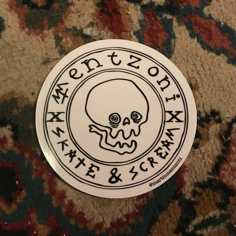 Image of HUGE Mentzoni Skull Sticker!