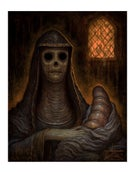 "Image of ""The Green Nun"" Limited Edition Paper Print"