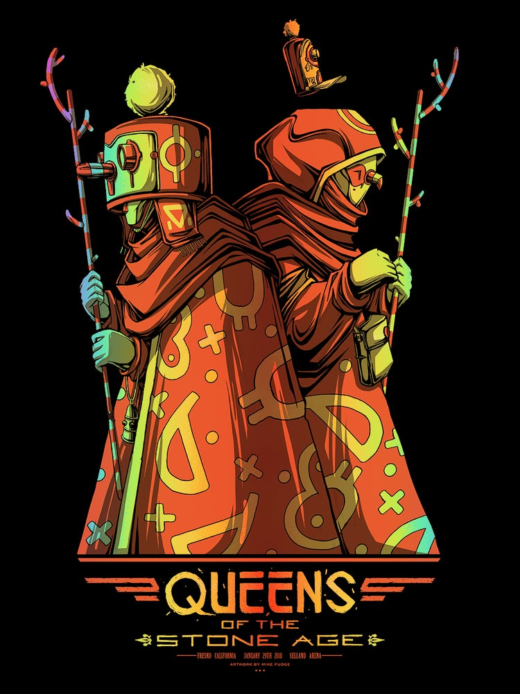 Image of *Foil* Queens of the Stone Age - Fresno, CA