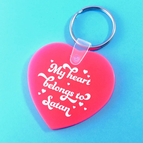 Image of My Heart Belongs to Satan Keychain