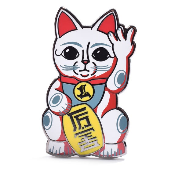Image of West Coast Lucky Cat 1.5 inch Pin