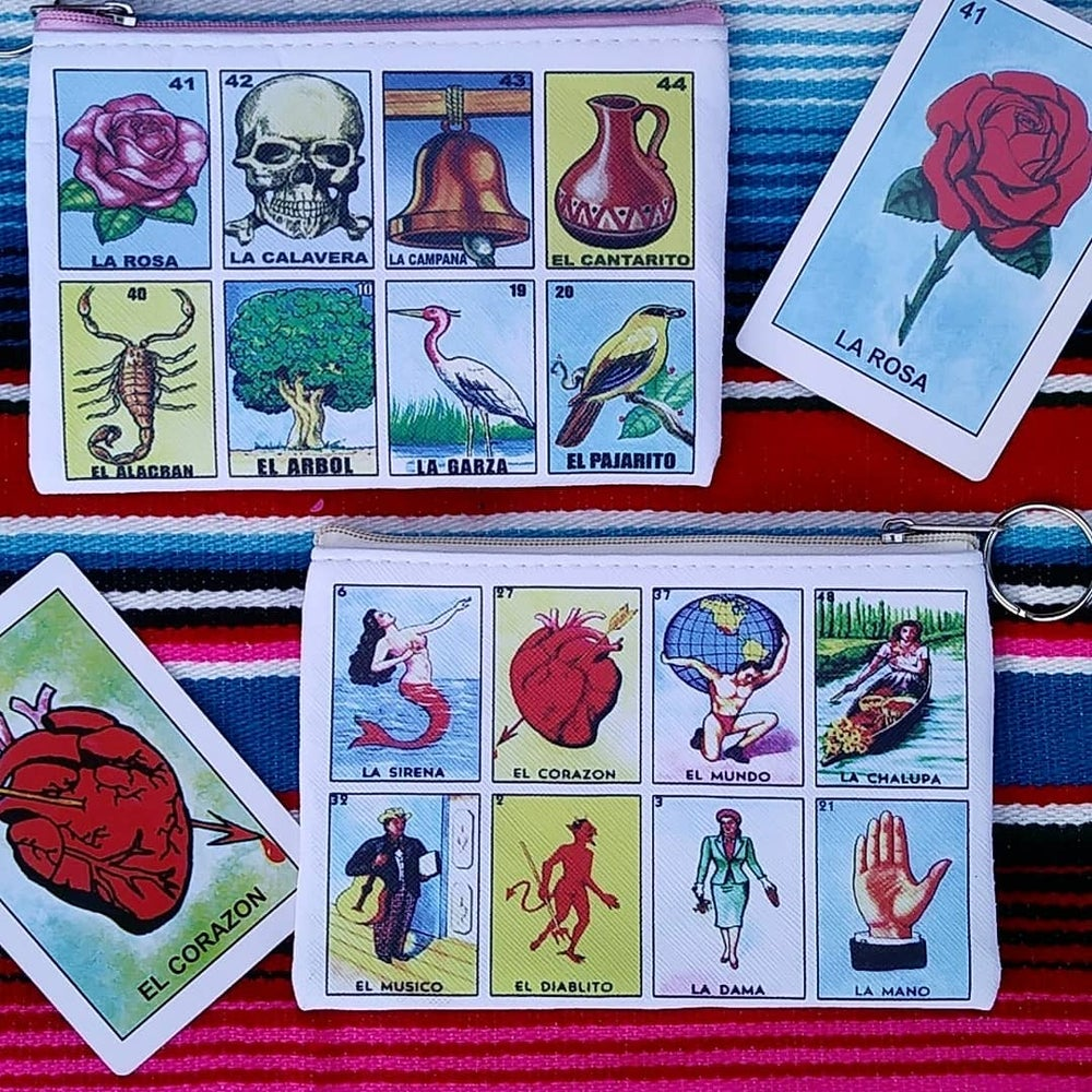Image of Loteria coin purse Style #1