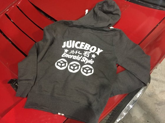 "Image of Juicebox ""Emerald Style"" Hoodie Charcoal Grey"