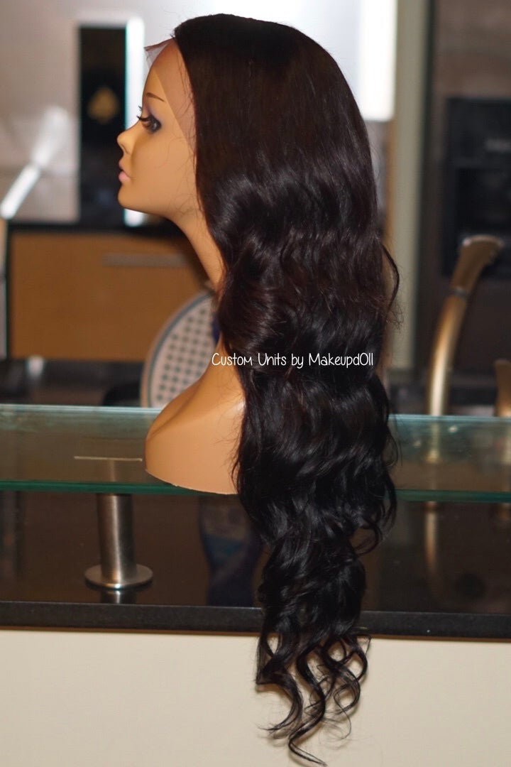 """Image of Indian Natural Waves 26"""" Custom Lace Frontal Wig"""