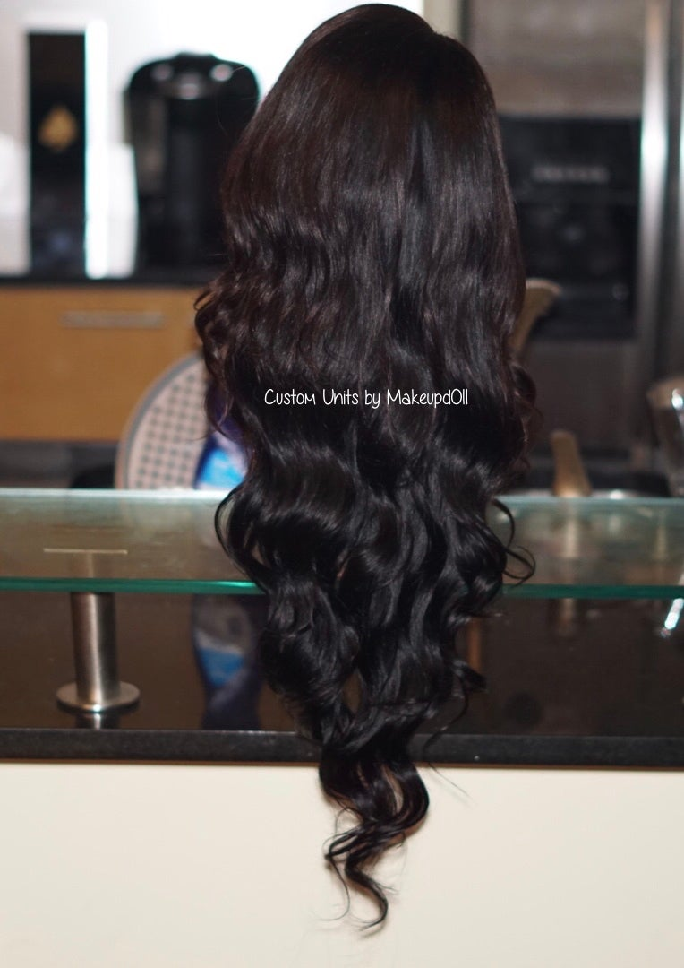 "Image of Indian Natural Waves 26"" Custom Lace Frontal Wig"